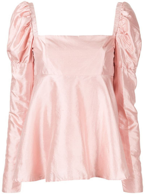 Macgraw Romantic puff sleeve top in pink