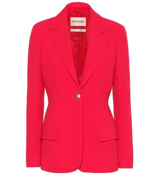 Roberto Cavalli Stretch-crêpe blazer in red