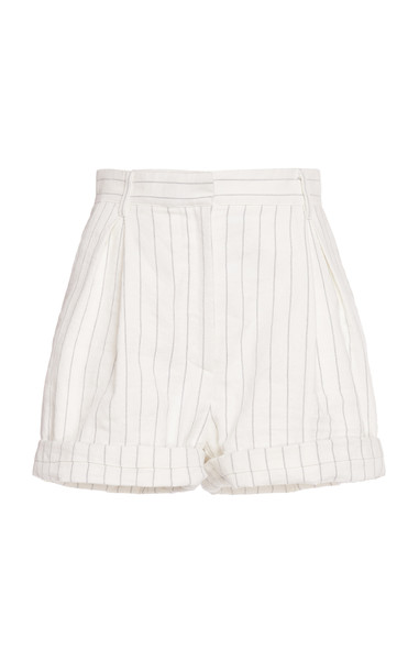 Philosophy di Lorenzo Serafini Pinstripe Cotton-Blend Shorts in white