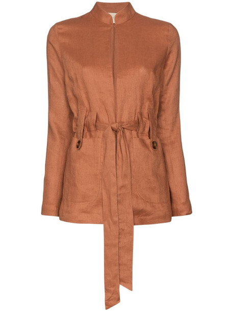 USISI SISTER Alma belted jacket in brown