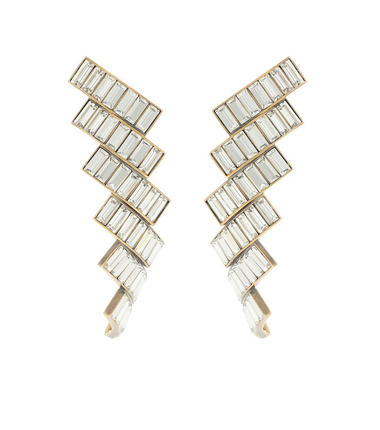 Balenciaga Evening crystal-embellished earrings in gold