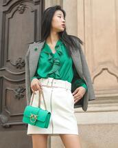 top,skirt,bag