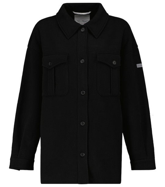 Max Mara Leisure Zigano shirt jacket in black