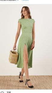 dress,maxi dress,green,summer,wedding clothes,pattern