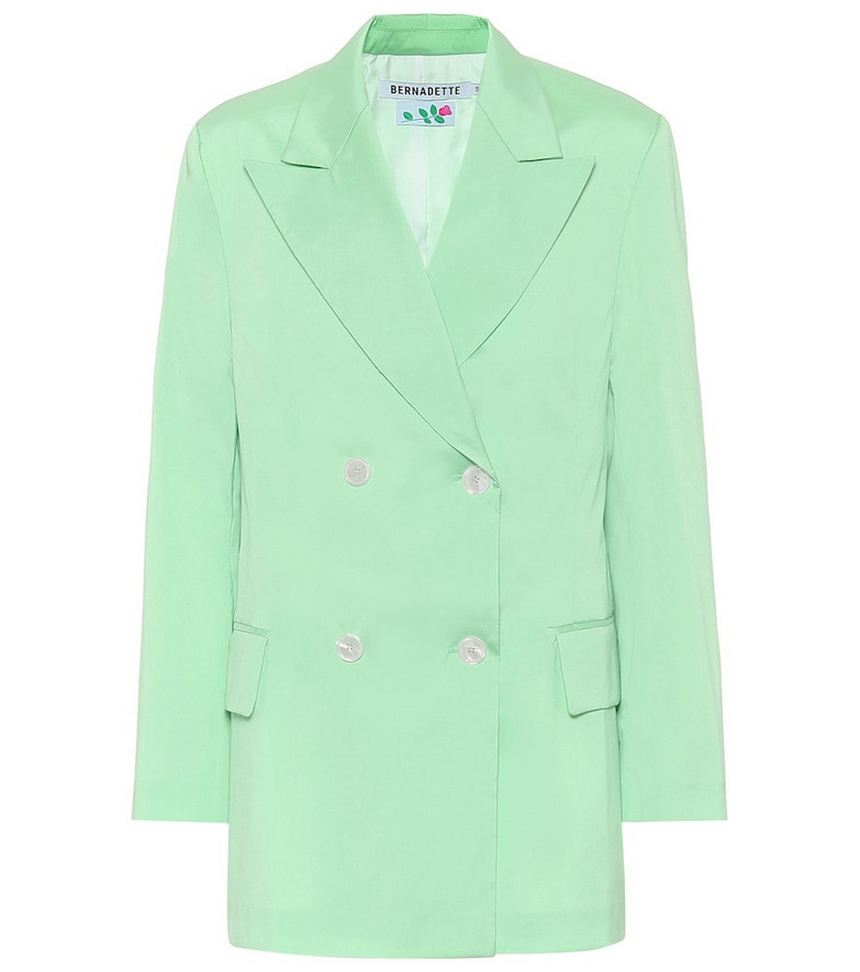 Bernadette Emma taffeta blazer in green