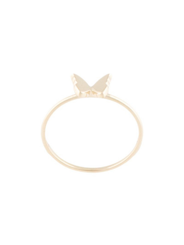 Karen Walker mini butterfly ring in gold