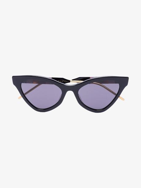 Gucci Eyewear black cat eye tinted sunglasses