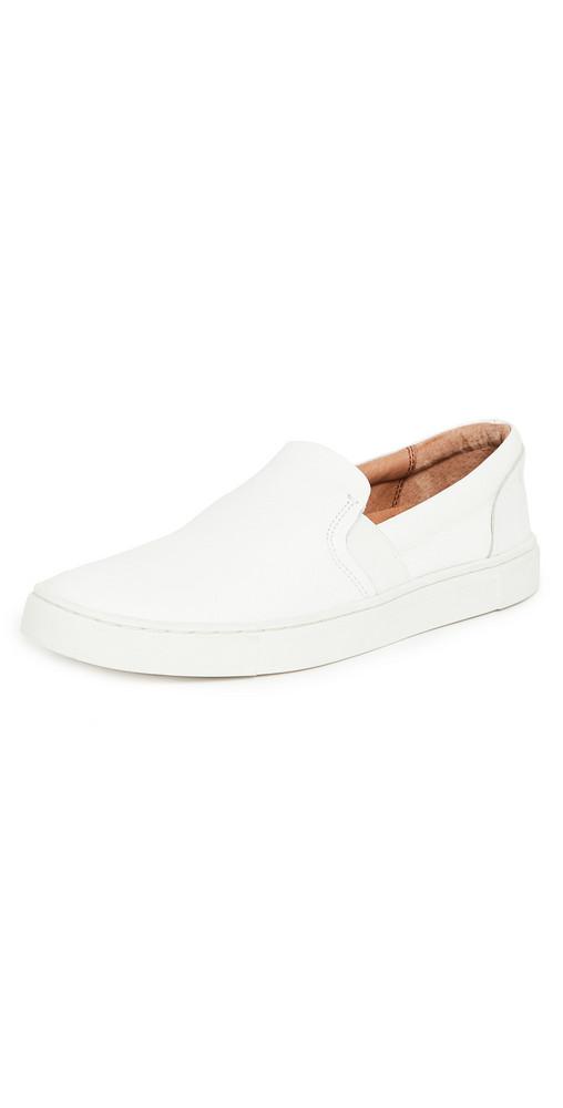 Frye Ivy Slip On Sneakers in white