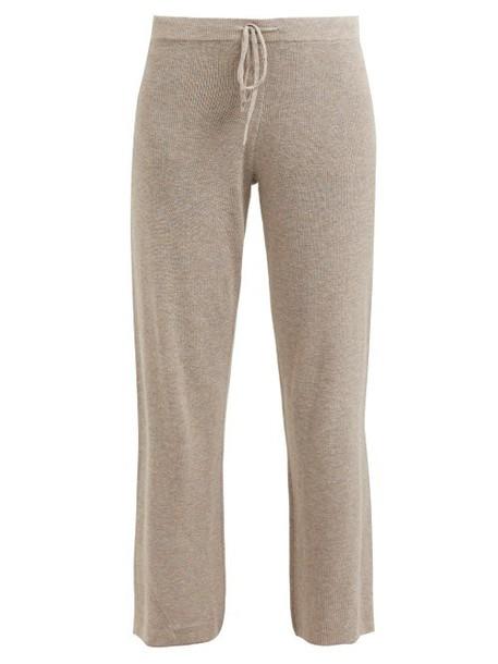 Skin - Brighton Cotton Blend Pyjama Trousers - Womens - Beige