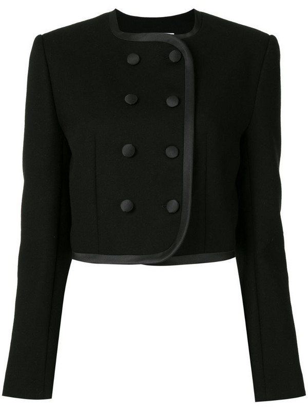 George Keburia fitted double-breasted jacket in black