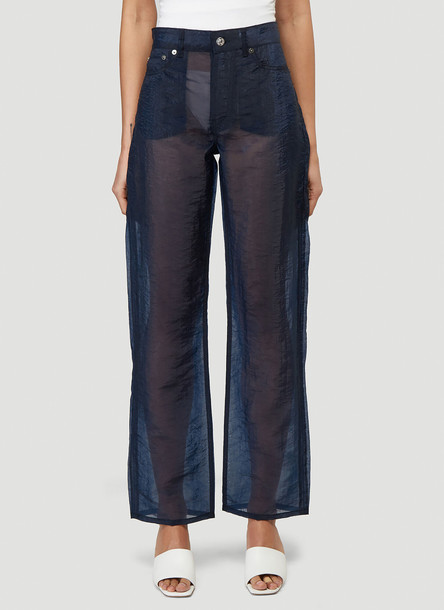 Our Legacy Luminance Cut Organza Pants in Navy size 25