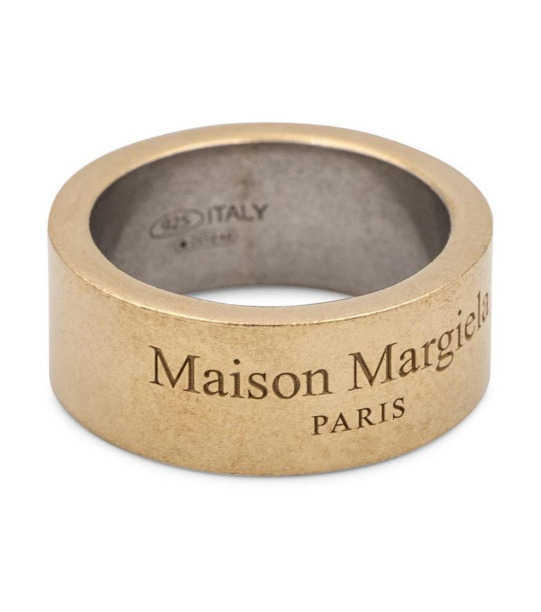 Maison Margiela Logo sterling silver ring in gold