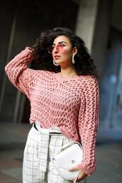samieze,blogger,sweater,pants,shoes,bag,jewels