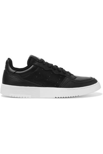 adidas Originals - Supercourt Leather Sneakers - Black