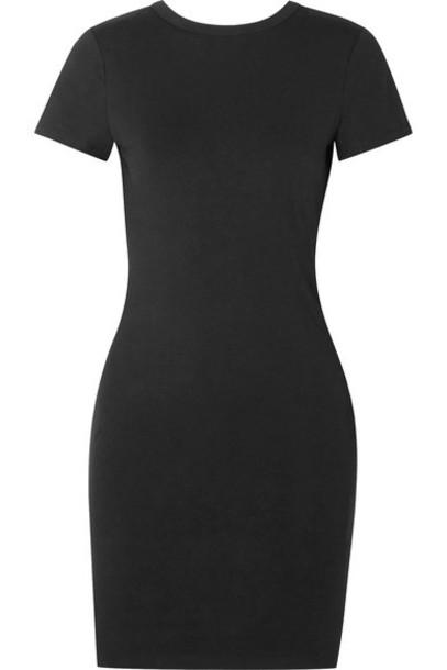 alexanderwang.t - Stretch Cotton-jersey Mini Dress - Black