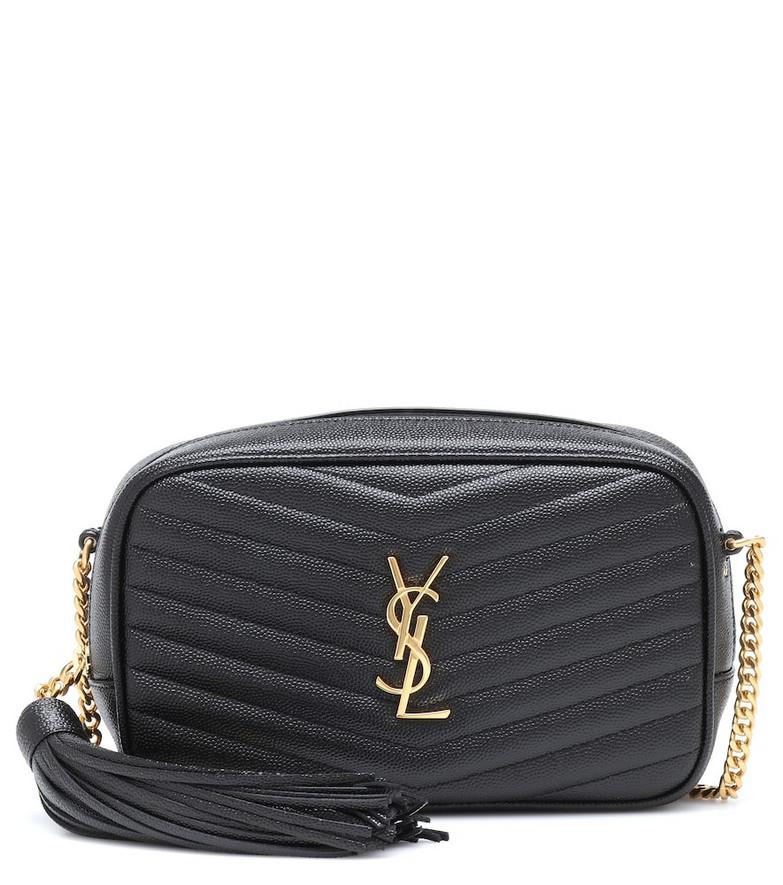 Saint Laurent Lou Mini leather crossbody bag in black