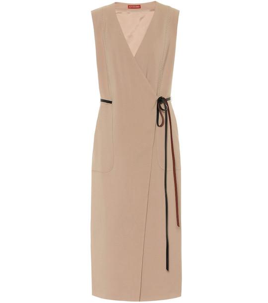 Altuzarra Cather stretch-wool midi dress in beige