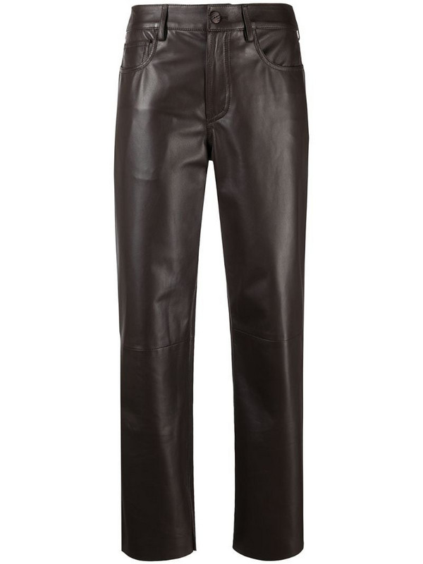 Drome cropped biker trousers in brown