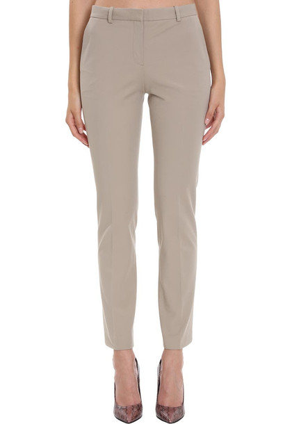 Theory Pants In Beige Cotton