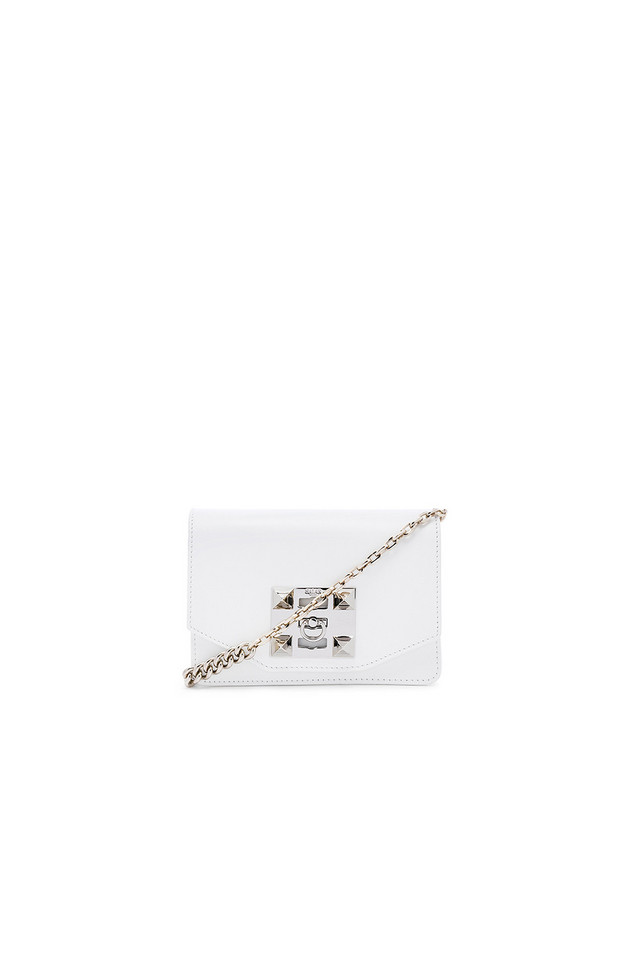 SALAR Sylvie Chain Bag in white