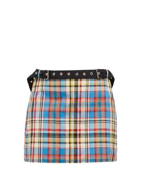 Marques'almeida - Tartan Mini Skirt - Womens - Multi