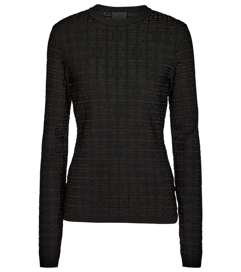 Givenchy Logo stretch-jersey top in black