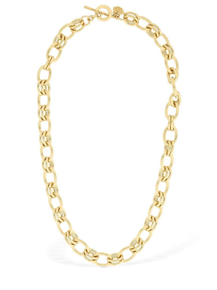 PHILIPPE AUDIBERT Byron Short Brass Chain Necklace in gold