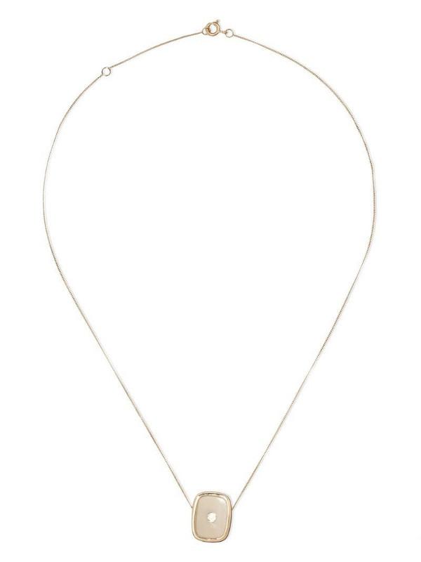 Pascale Monvoisin 14kt and 9kt yellow gold diamond Varda Nº1 necklace
