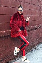 coat,fur,fur jacket,olivia palermo,blogger,blogger style
