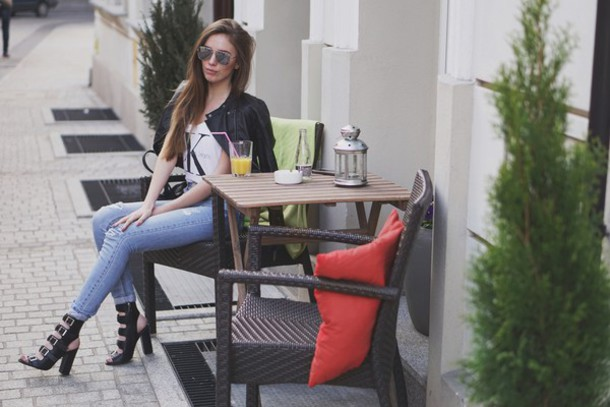 pivonia blogger jacket jeans bag shoes top