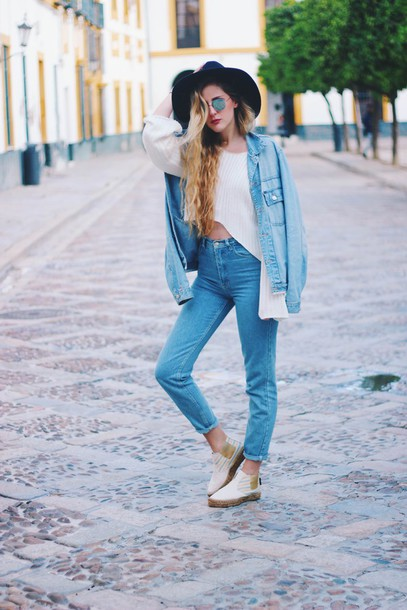 dear diary blogger hat jacket top jeans shoes