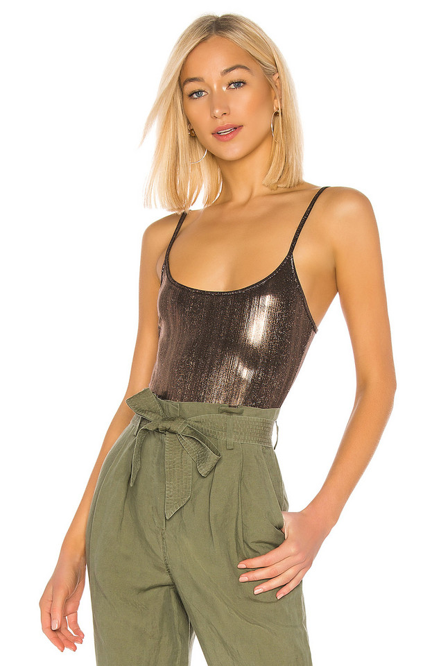 Alix Keen Lame Bodysuit in metallic