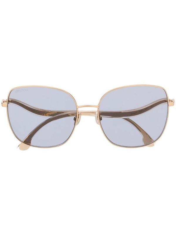 Jimmy Choo Eyewear Mamie curved sunglasses in gold