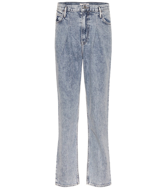 Grlfrnd Teagan high-rise straight jeans in blue
