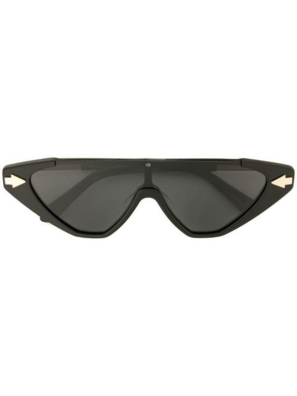 Karen Walker Hallelujah shield sunglasses in black