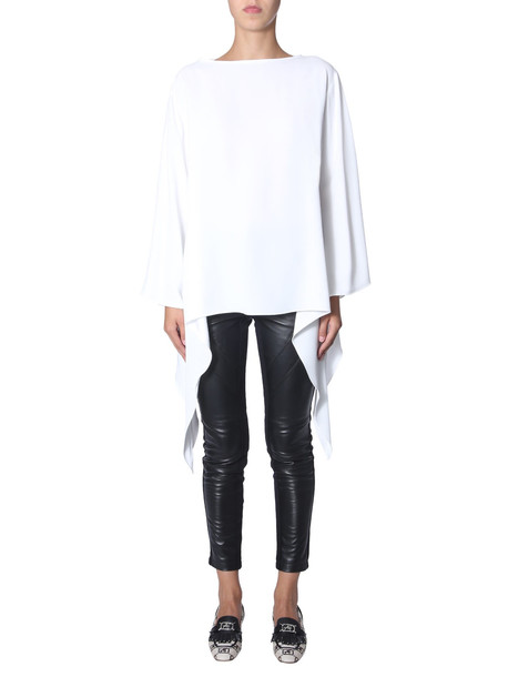 Alberta Ferretti Oversize Fit Blouse in bianco