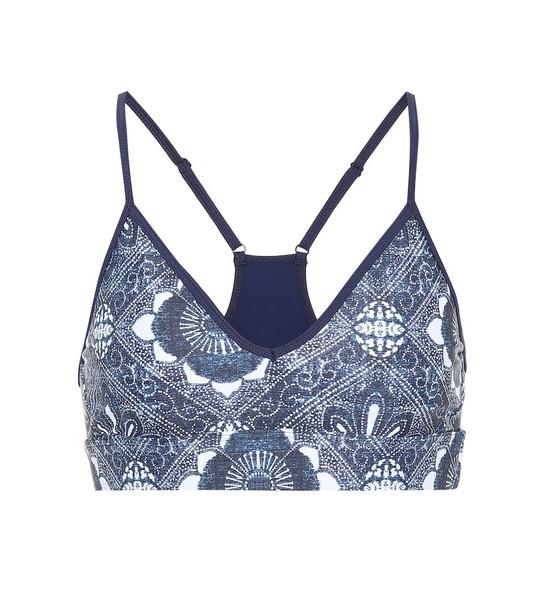 The Upside Andie printed sports bra in blue