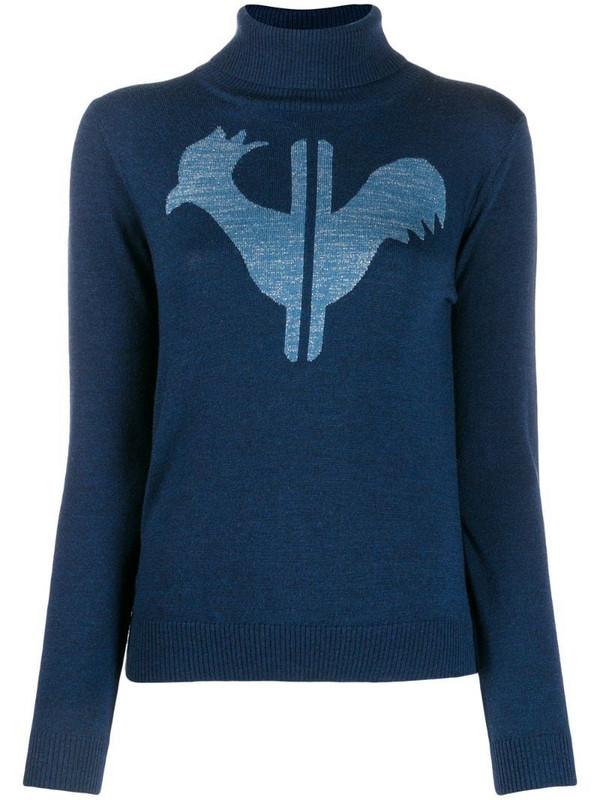 Rossignol classic turtleneck jumper in blue