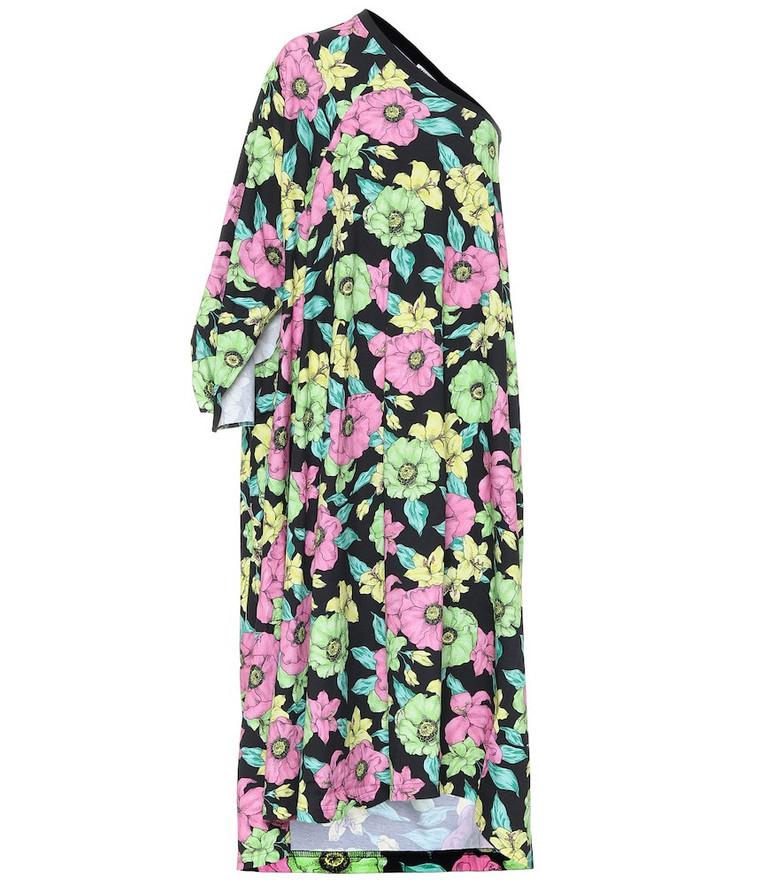 Balenciaga Floral cotton dress in black