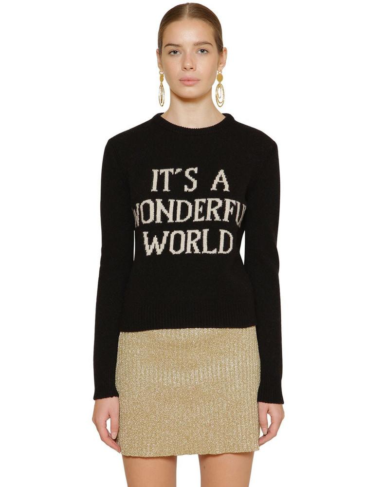ALBERTA FERRETTI Slim Cashmere Blend Knit Sweater in black