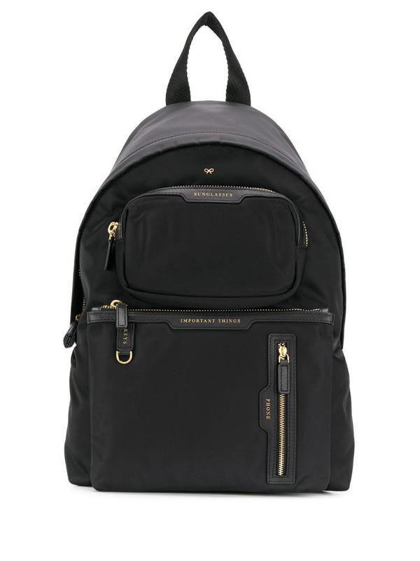 Anya Hindmarch multi pocket backpack in black