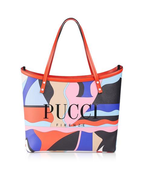 Emilio Pucci Two Tone Canvas Large Tote Bag in purple