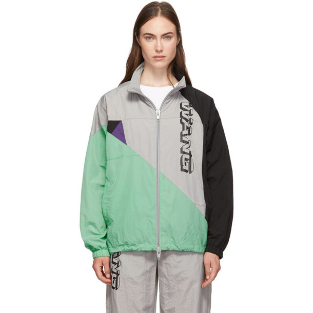 alexanderwang.t Grey Wash and Go Colorblock Jacket