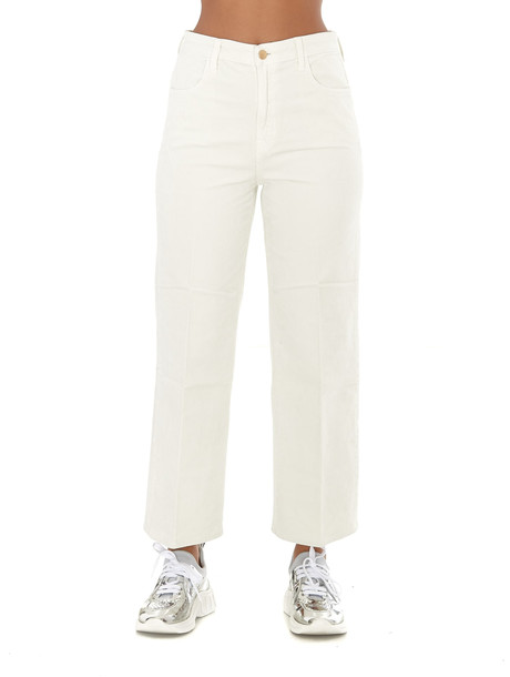J Brand Joan Velvet Jeans in white