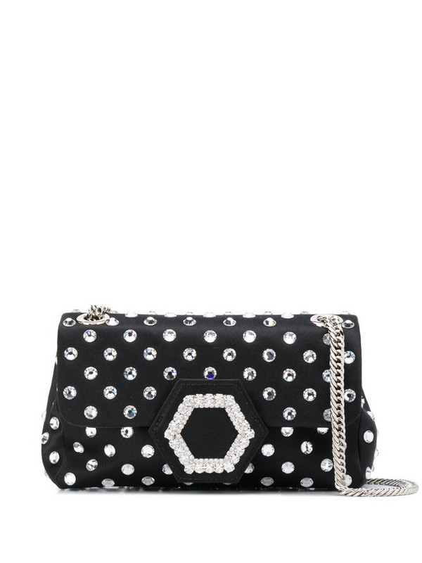 Philipp Plein crystal-embellished shoulder bag in black