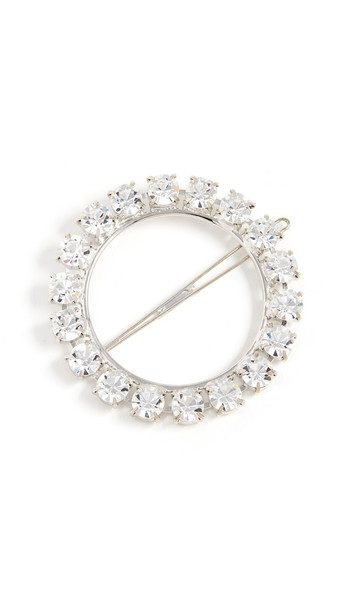 LELET NY Olivia Crystal Ring Barrette in silver
