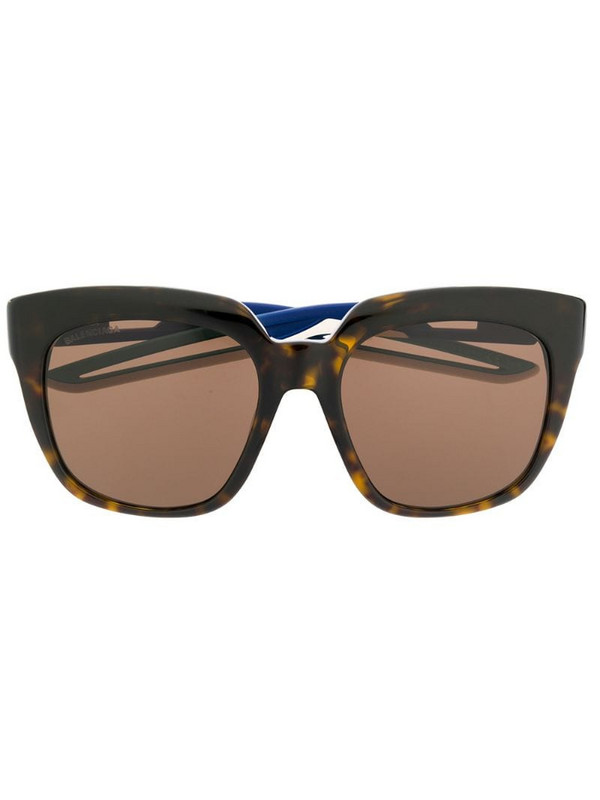 Balenciaga Eyewear Hybrid D-Frame sunglasses in brown