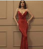 dress,red dress,sequins,mermaid prom dress,maxi dress,mermaid,prom dress,prom,red prom dress,red