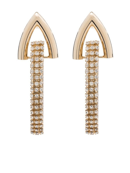 Rosantica crystal detail statement earrings in gold