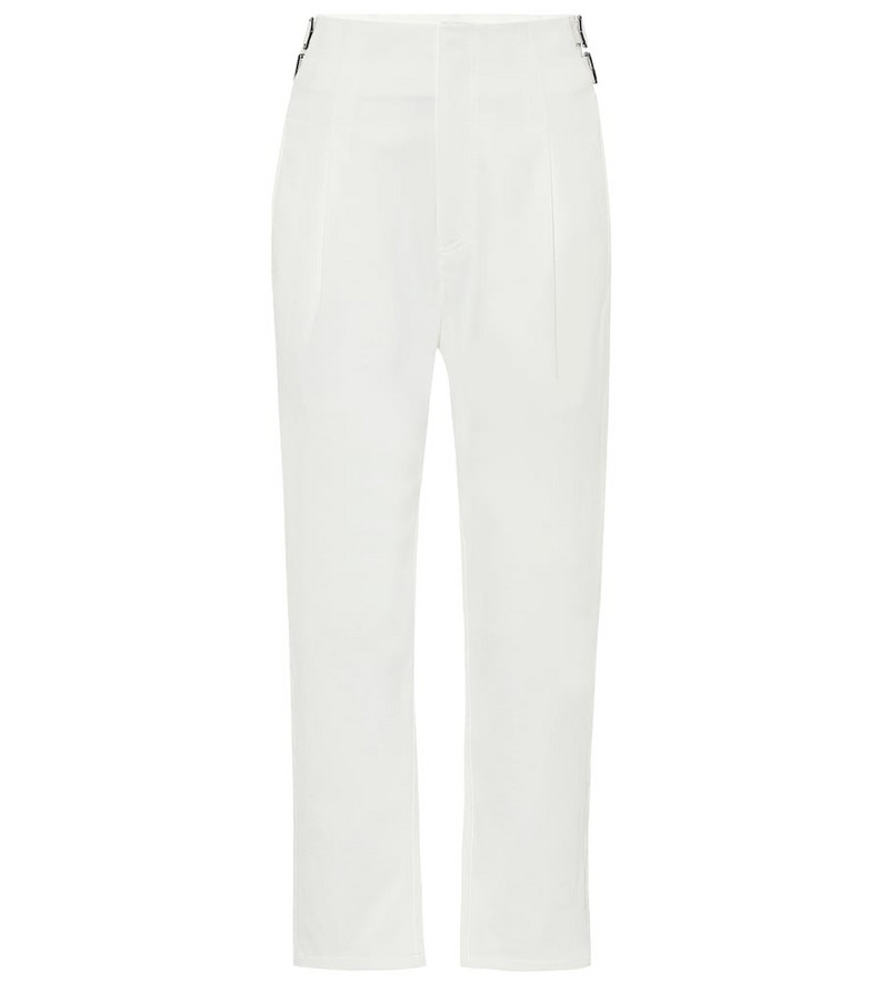 COLOVOS Buckle high-rise pants in white